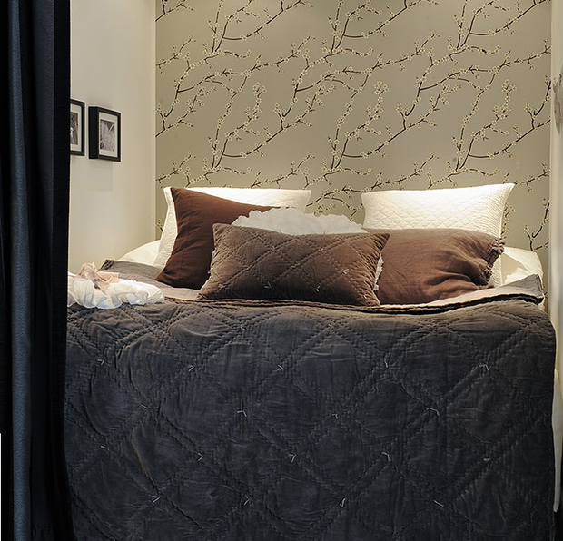 Фотография: Спальня в стиле Современный, Скандинавский, Малогабаритная квартира, Квартира, Дома и квартиры – фото на InMyRoom.ru