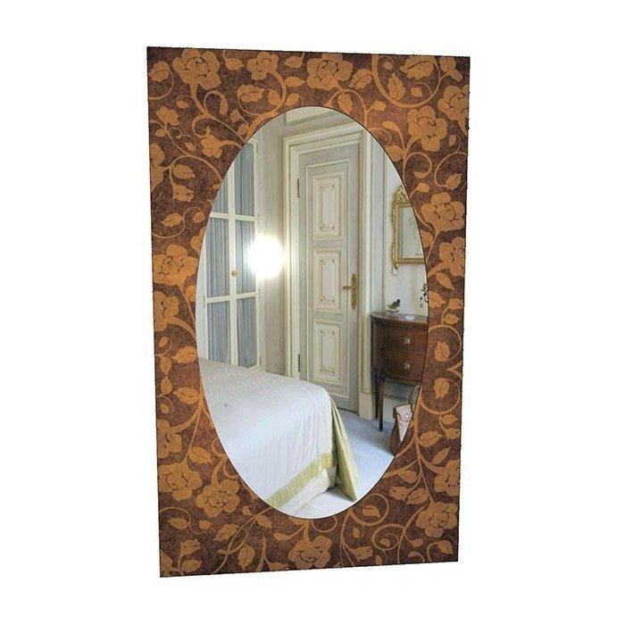 """Зеркало с плотным рисунком """"Коричневые розы"""""""