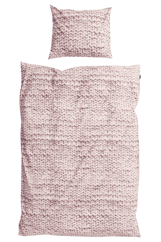 Купить Комплект постельного белья Косичка 150х200 розовый фланель, inmyroom, Нидерланды