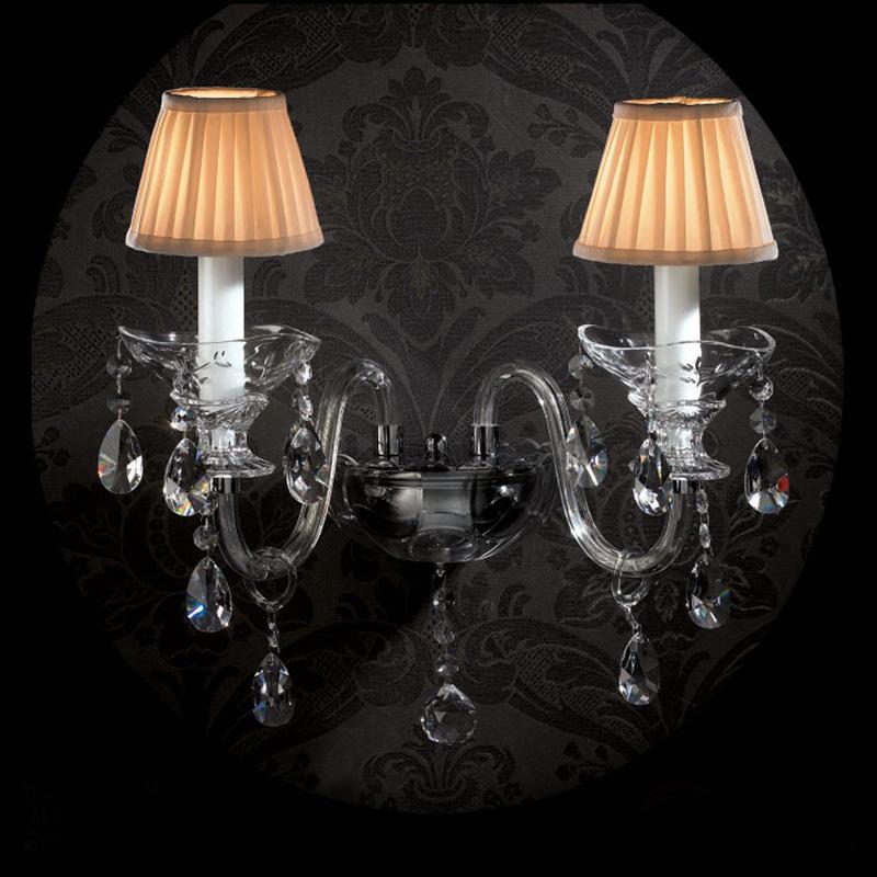 Купить Бра с хрустальными подвесками Illuminati Moollona, inmyroom, Италия