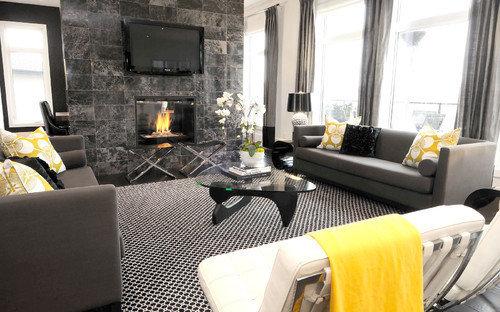 Фотография: Гостиная в стиле Лофт, Декор интерьера, Текстиль – фото на InMyRoom.ru