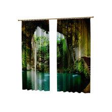 Шторы с фотопечатью: Водная пещера