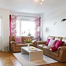 Фотография: Гостиная в стиле Кантри, Малогабаритная квартира, Квартира, Швеция, Дома и квартиры – фото на InMyRoom.ru