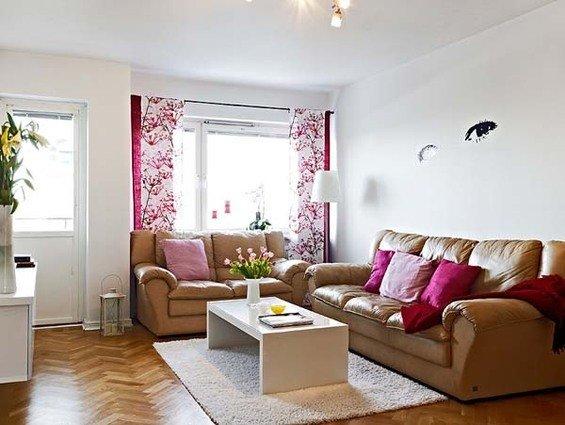 Фотография: Гостиная в стиле Прованс и Кантри, Малогабаритная квартира, Квартира, Швеция, Дома и квартиры – фото на InMyRoom.ru
