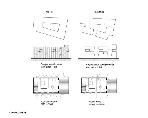 Планировка квартиры (летний и зимний вариант), Carré Lumière