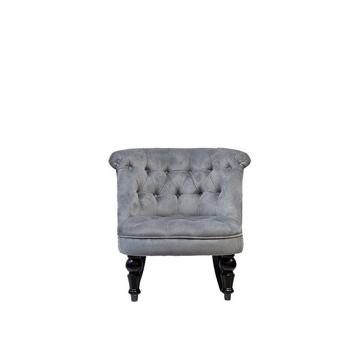 Кресло бархатное серое