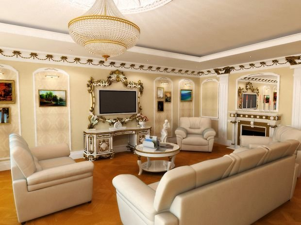 Фотография: Гостиная в стиле Классический, Декор интерьера, Квартира, Дом, Дача – фото на InMyRoom.ru