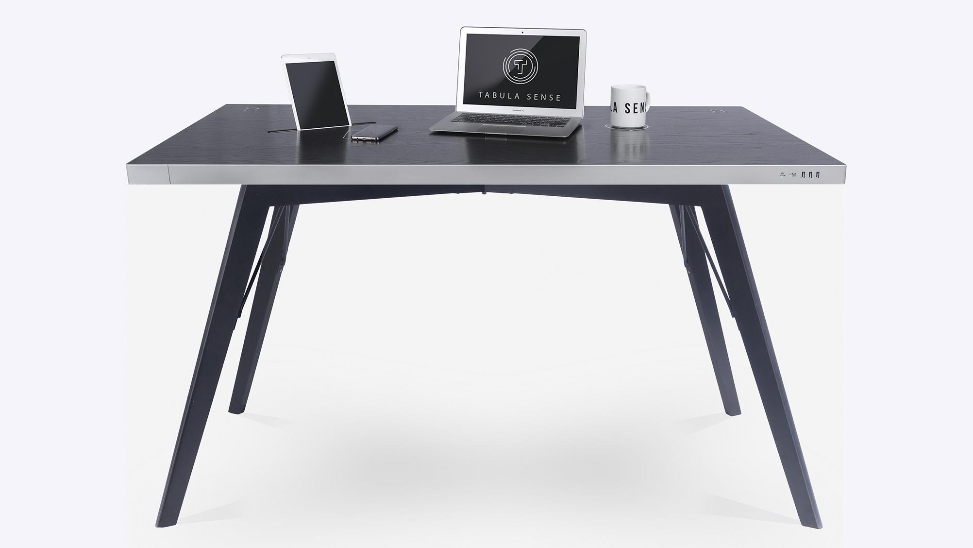 Купить Стол стандартный Tabula Sense Smart Desk Black Birch Black, inmyroom, Россия