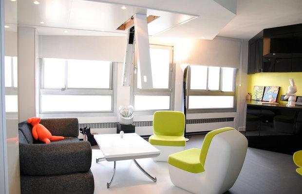 Фотография: Гостиная в стиле Скандинавский, Современный, Спальня, Декор интерьера, Малогабаритная квартира, Мебель и свет, Готический – фото на InMyRoom.ru