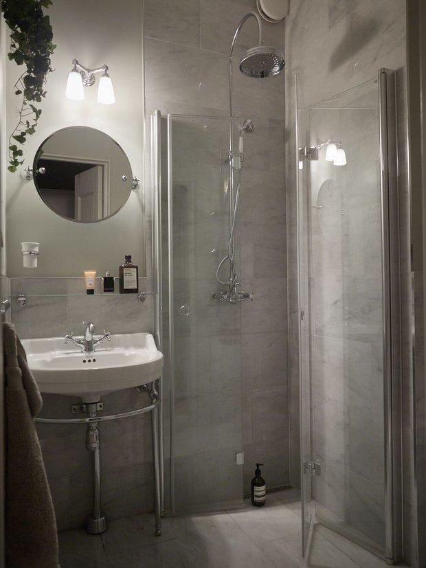 Фотография: Ванная в стиле Скандинавский, Современный, Декор интерьера, Квартира, Швеция, Зеленый, Бежевый, Коричневый, 4 и больше, Более 90 метров – фото на INMYROOM