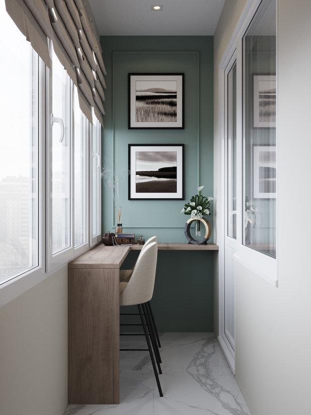 Фотография: Балкон в стиле Современный, Квартира, Проект недели, Одинцово, 4 и больше, 60-90 метров, Мария Гульбекян – фото на INMYROOM