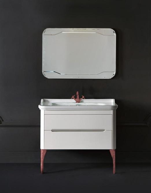 Тумба с керамической раковиной Waldorf белого цвета