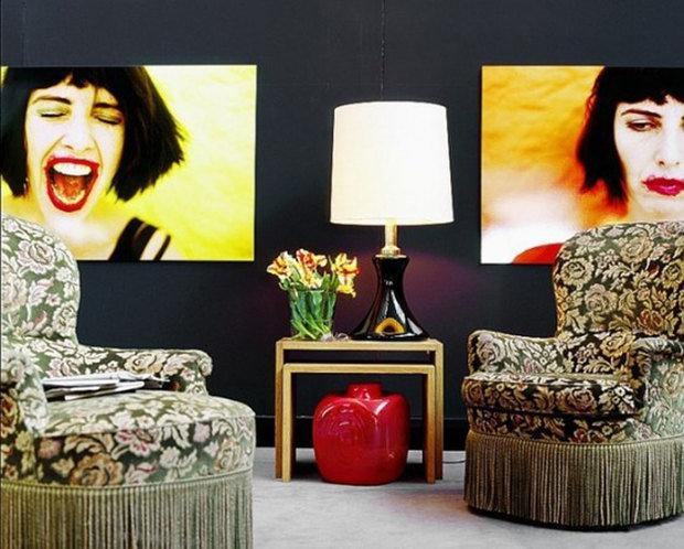 Фотография: Гостиная в стиле Классический, Современный, Эклектика, Квартира, Дома и квартиры, Поп-арт – фото на InMyRoom.ru