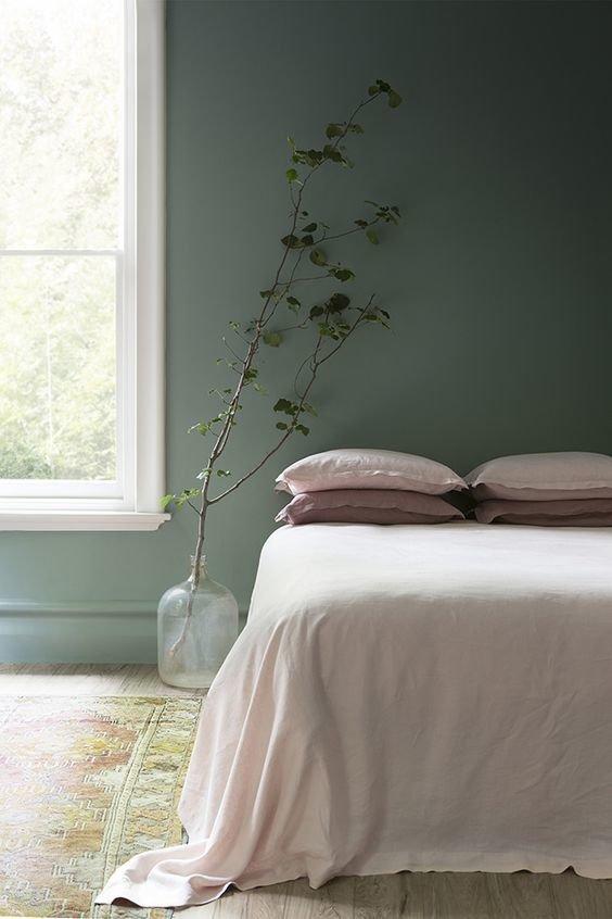 Фотография: Спальня в стиле Скандинавский, Советы, Зеленый, Желтый, Синий, Серый, Голубой – фото на InMyRoom.ru
