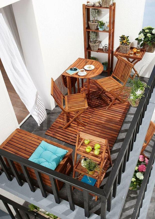 Фотография: Балкон в стиле Современный, Квартира, Аксессуары, Мебель и свет, Терраса, Советы, Ремонт на практике, бюджетное обновление балкона, экономичный ремонт на балконе – фото на InMyRoom.ru
