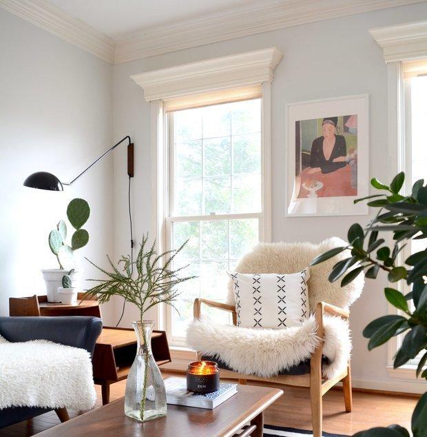 Фотография: Гостиная в стиле Скандинавский, Декор интерьера, уют дома, скандинавский стиль в интерьере, хюгге – фото на INMYROOM