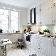 Фотография: Кухня и столовая в стиле Скандинавский, Кантри, Декор интерьера, Квартира, Белый – фото на InMyRoom.ru