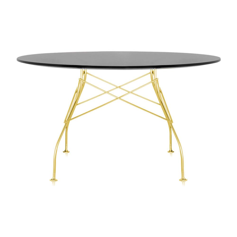 Обеденный стол Glossy с черной столешницей фото