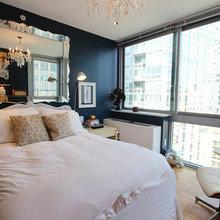Фотография: Спальня в стиле Эклектика, Малогабаритная квартира, Квартира, Дома и квартиры, Нью-Йорк, Ар-деко, Индустриальный – фото на InMyRoom.ru