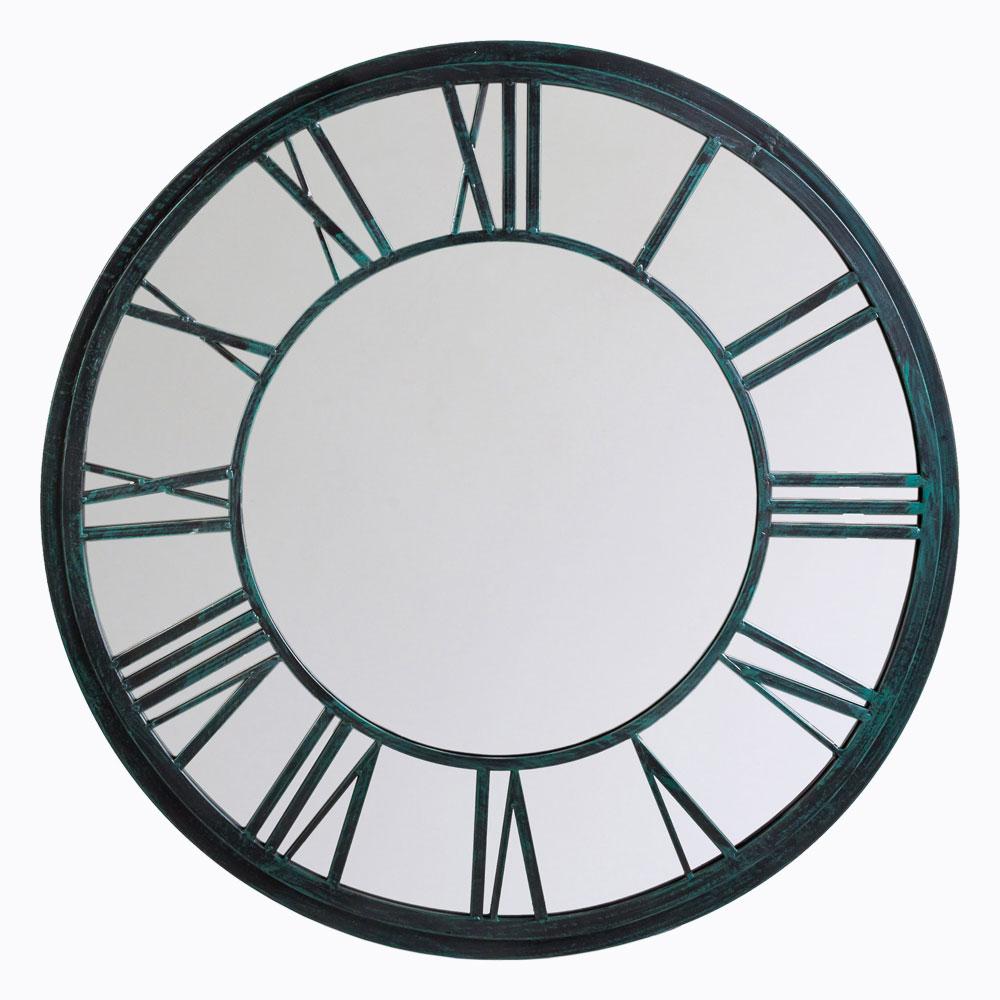 Настенное зеркало «орсе» (черный антик)