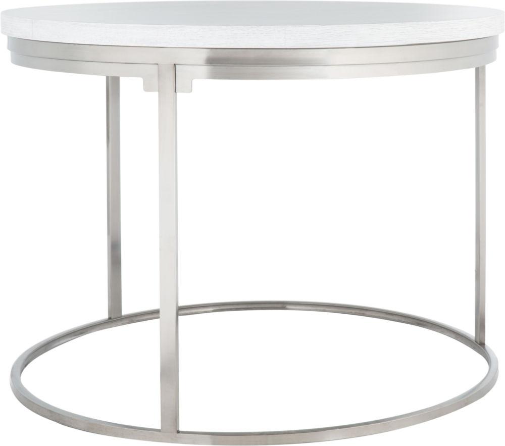 Купить Круглый обеденный стол с деревянной столешницей на металлическом основании, inmyroom