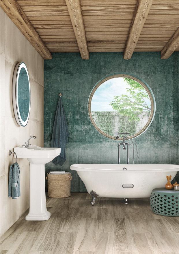 Дизайн: Roca (ванна Newcast и раковина Carmen)