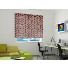 Рулонные шторы в офис: Цветы в сотах