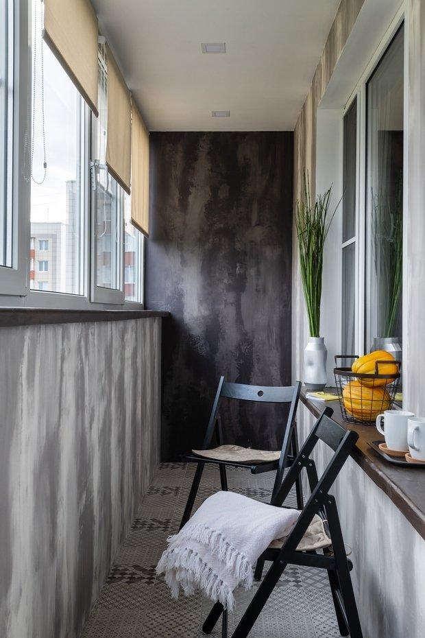 Фотография: Балкон в стиле Современный, Проект недели, Москва, Панельный дом, 1 комната, 40-60 метров, Дарья Смирнова – фото на INMYROOM