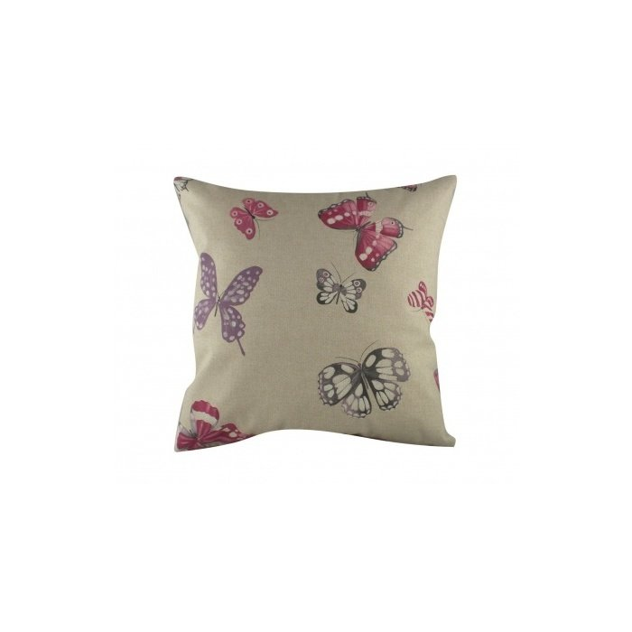Подушка с принтом Pink Butterflies