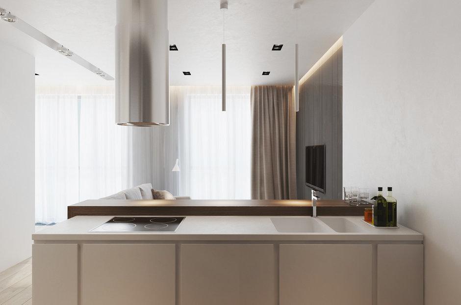 Фотография: Кухня и столовая в стиле Лофт, Современный, Квартира, Минимализм, Проект недели – фото на InMyRoom.ru