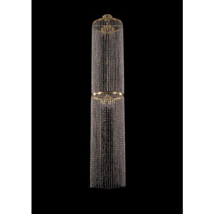 Каскадная люстра Bohemia Ivele из множества хрустальных цепочек