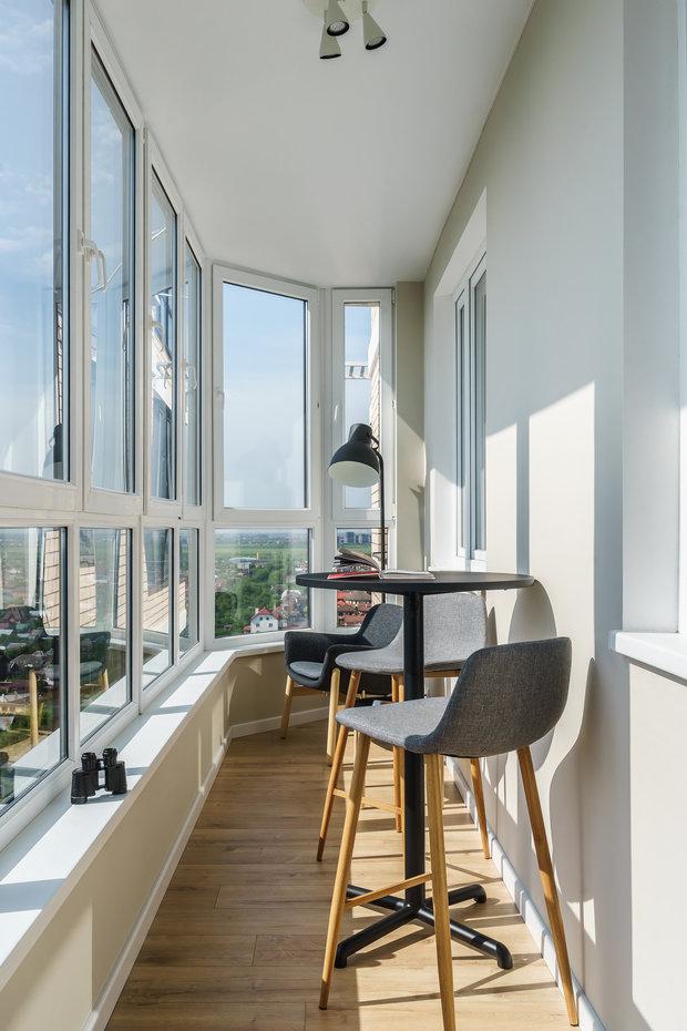 Фотография: Балкон в стиле Современный, Квартира, Проект недели, Краснодар, 1 комната, 40-60 метров, Penzev Studio – фото на INMYROOM