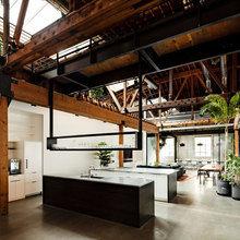 Фотография: Офис в стиле Кантри, Лофт, Современный, Офисное пространство, Дома и квартиры, Проект недели – фото на InMyRoom.ru