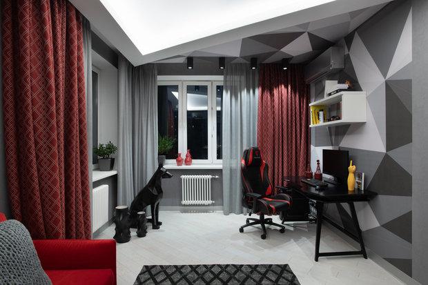 Фотография: Кабинет в стиле Современный, Квартира, Проект недели, Реутов, 4 и больше, Более 90 метров, Марина Курганова – фото на INMYROOM