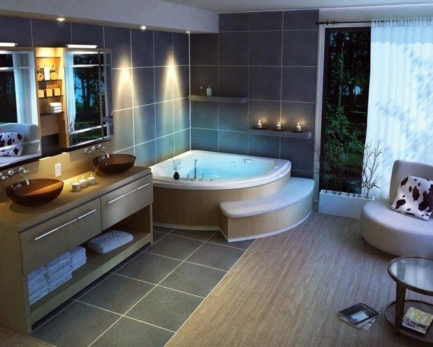 Фотография: Ванная в стиле Скандинавский, Восточный, Интерьер комнат, Мебель и свет, Советы – фото на InMyRoom.ru