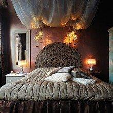 Фотография: Спальня в стиле Восточный, Декор интерьера, Квартира, Дизайн интерьера, Мебель и свет, Цвет в интерьере, Стокгольм, Коричневый – фото на InMyRoom.ru