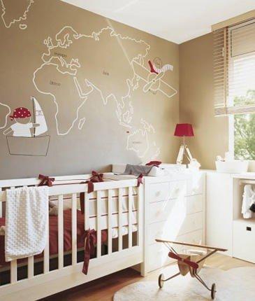 Фотография: Детская в стиле Прованс и Кантри, Декор интерьера, Декор дома, Цвет в интерьере, Обои – фото на InMyRoom.ru
