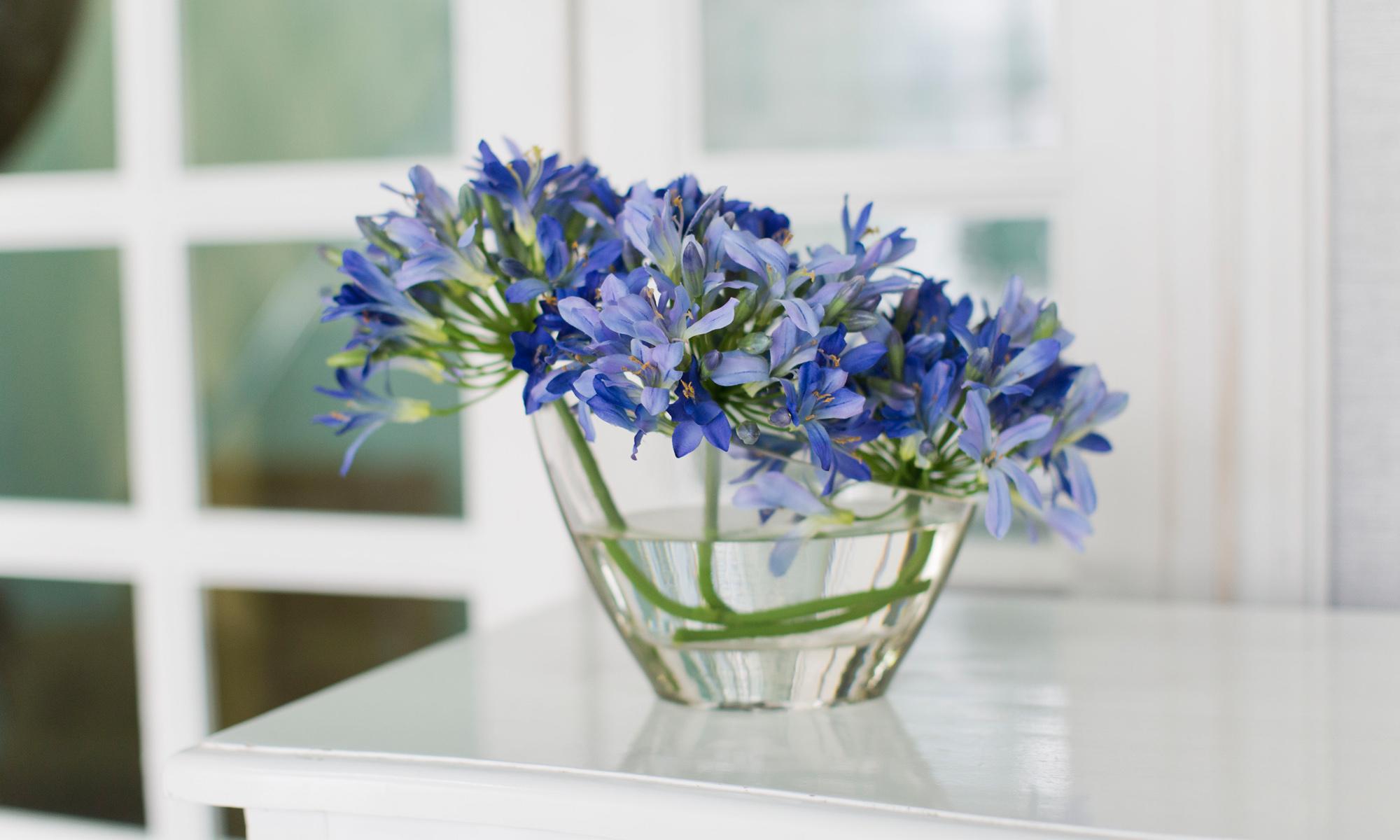 Купить Композиция из искусственных цветов - голубой агапантус, inmyroom, Россия