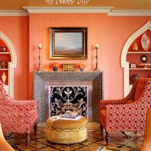 Фотография: Гостиная в стиле Восточный, Декор интерьера, Дизайн интерьера, Цвет в интерьере, Dulux, Оранжевый, ColourFutures – фото на InMyRoom.ru