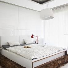 Фотография: Спальня в стиле Лофт, Скандинавский, Кухня и столовая, Квартира, Цвет в интерьере, Дома и квартиры, Белый, Минимализм – фото на InMyRoom.ru