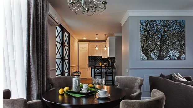 Фотография: Кухня и столовая в стиле Современный, Малогабаритная квартира, Квартира, Индустрия, События – фото на InMyRoom.ru
