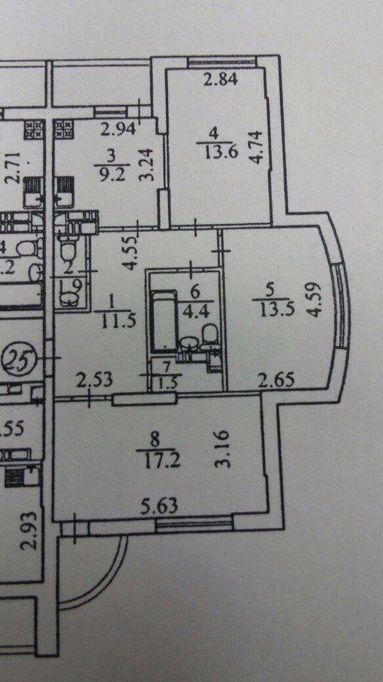подскажите, как сделать планировку в 3к квартире