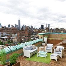 Фотография: Балкон, Терраса в стиле , Дом, Индустрия, События, Маркет, Плетеная мебель – фото на InMyRoom.ru