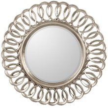 Круглое настенное зеркало в раме Kimberly Silver