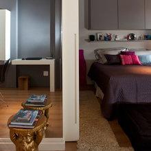 Фотография: Спальня в стиле Современный, Малогабаритная квартира, Квартира, Дома и квартиры, Бразилия, Сан-Паулу, Перегородки – фото на InMyRoom.ru