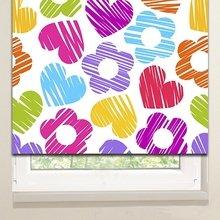 Рулонные шторы: Цветы и сердечки