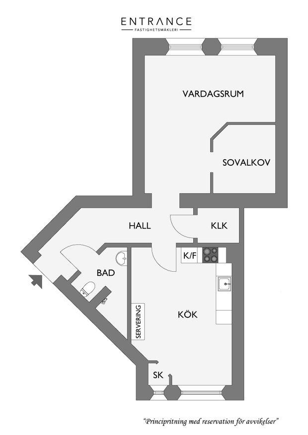 Фотография:  в стиле , Скандинавский, Малогабаритная квартира, Квартира, Декор, Мебель и свет, Белый – фото на InMyRoom.ru