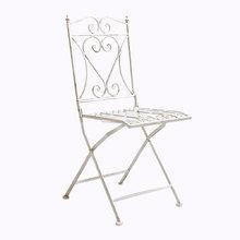Складной прямоугольный стул «Тюильри» (белый антик)