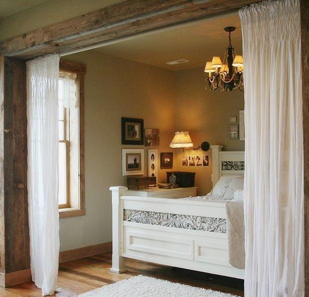 Фотография: Спальня в стиле Прованс и Кантри, Советы, Бежевый, Серый, Мебель-трансформер, кровать-трансформер, диван-кровать – фото на InMyRoom.ru