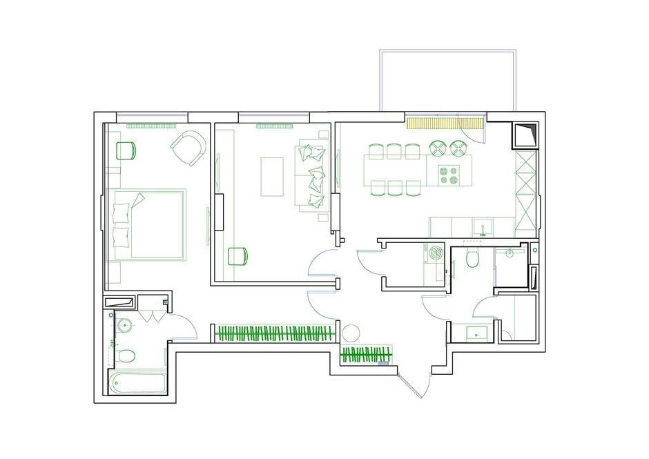 Фотография: Планировки в стиле , Современный, Miele, Проект недели, 2 комнаты – фото на InMyRoom.ru